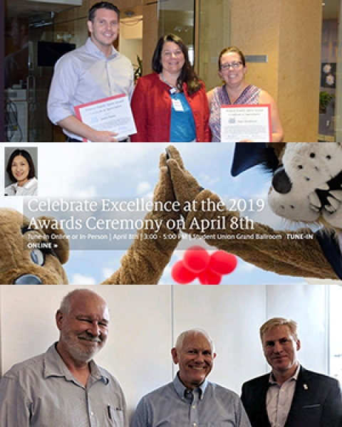 Teaser image of DOM staff recognized at UA Awards for Excellence 2019