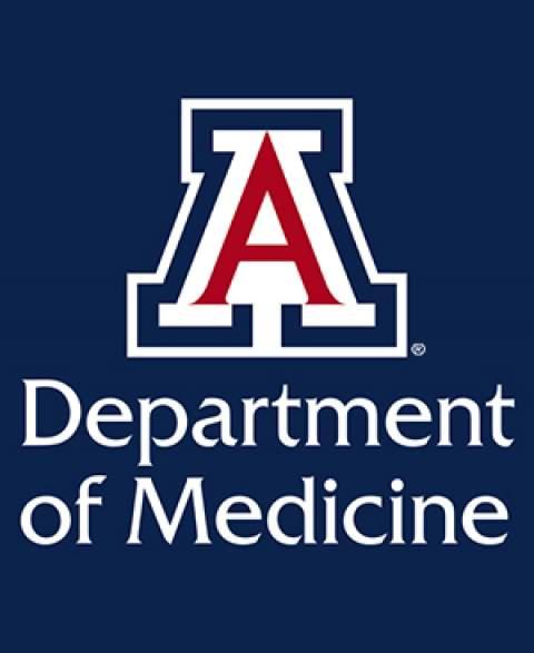 "Department of Medicine with University of Arizona block ""a"" logo"