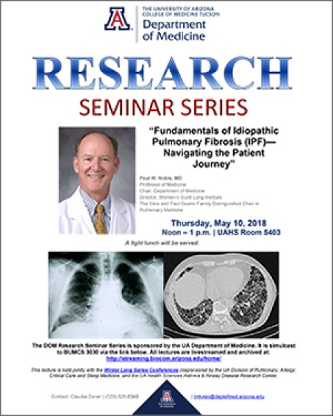 Image of flyer for this event with Dr. Paul Noble