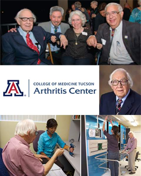 Collage of photos with UA Arthritis Center's Dr. David W. Smith