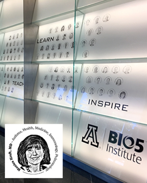 "Teaser image for story on new faces on BIO5 Institute's researcher ""wall of fame"""