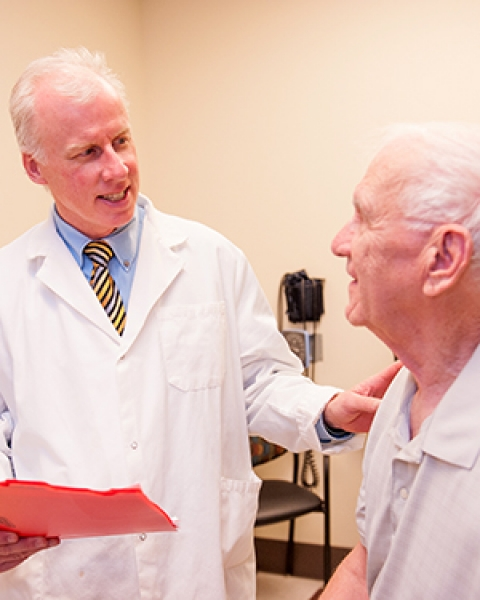 Dr. Craig Stump sees a patient at the Diabetes Clinic in the Abrams Public Health Center adjacent to Banner – University Medical Center South Campus
