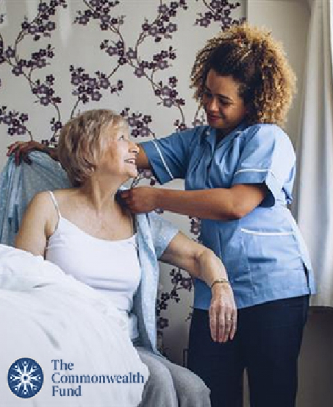 Home-based primary caregiver cares for patient