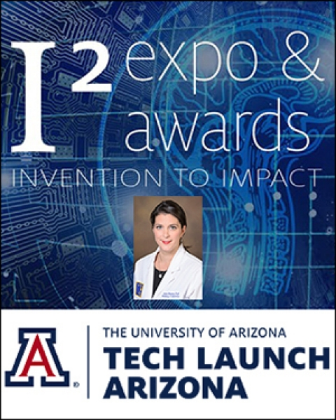 Teaser image for this story with Tech Launch I-Squared logos and photo of Dr. Louise Hecker