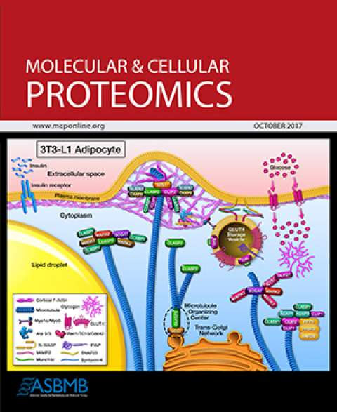 Molecular & Cellular Proteomics cover for October 2017