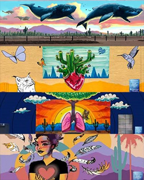 Teaser image for story on Banner Health's sponsorship of 5 murals by 4 local artists in Tucson