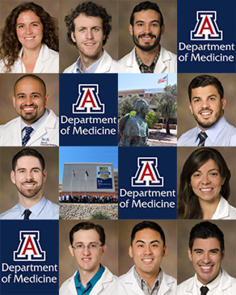 New internal chief residents for 2018-19 and 2019-20 at UA Department of Medicine