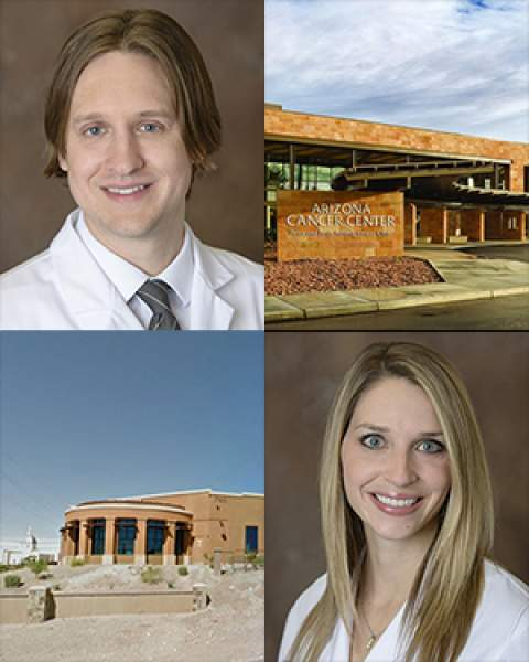 Teaser image of Drs. Jeffrey Krase, Marilyn Wickenheiser and sites of dermatology clinics