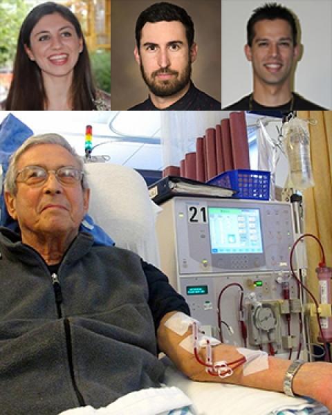 Patient on dialysis below investigators Drs. Eleonora Tubaldi, Diego Celdran Bonafonte and Jose Rosado Toro