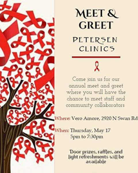 Image of flyer for Petersen HIV Clinics Meet & Greet, 05-17-2018