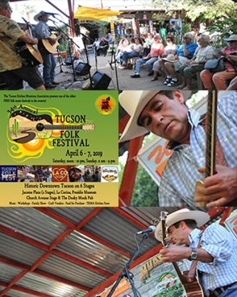 Teaser image of Dr. Peter Ott performing with Ruff Mixx band at Tucson Folk Festival (Photos of Ruff Mixx courtesy of TucsonEventPhotography.com)