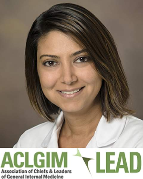 Dr. Serena Scott with ACLGM-LEAD logo
