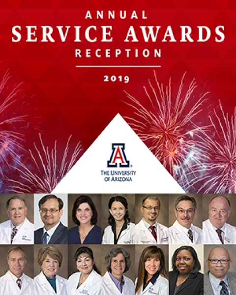Teaser image for Service Awards Reception and UA Department of Medicine honorees for milestone years and retirement