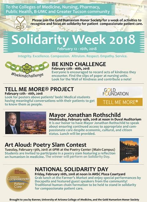 Flyer for Solidarity Week 2018 activities