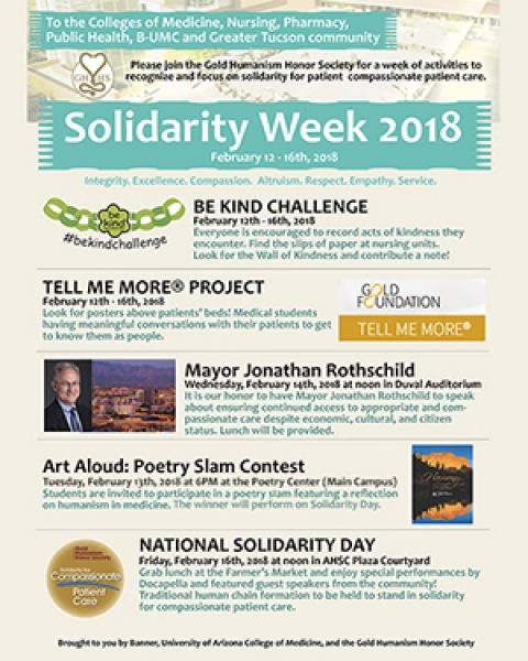 Flyer image for 2018 Solidarity Week events