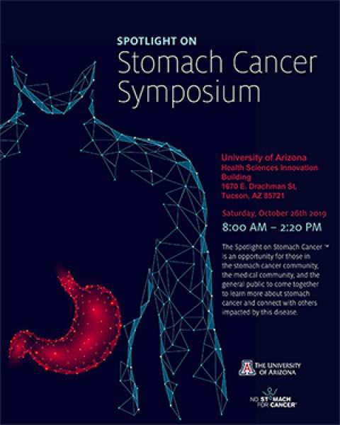 Teaser image of flyer for Spotlight on Stomach Cancer Symposium, Oct. 26, at UAHS Campus in Tucson