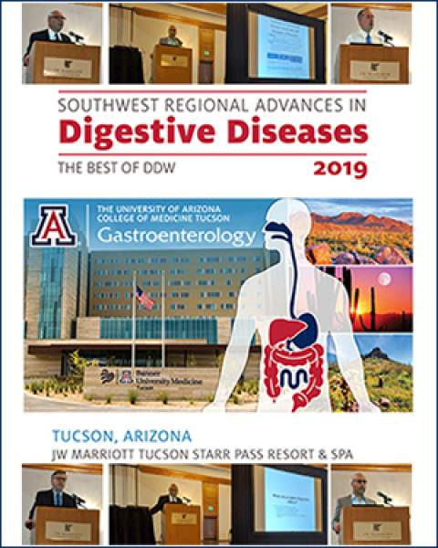 Teaser image of collage illustrating inaugural Southwest Regional Advances in Digestive Diseases conference, Sept. 7, 2019