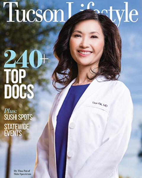 """June 2019 issue of Tucson Lifestyle with list of local """"Top Doctors in America"""""""
