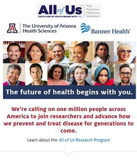 UA-Banner All of Us Research Program web screenshot