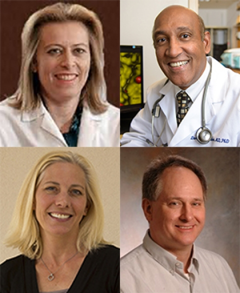 Drs. Linda Garland, Daruka Mahadevan, Heidi Hamann and Nathan Ellis