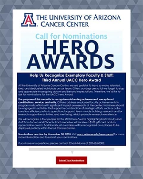 Teaser image for UACC Hero Awards nomination requests