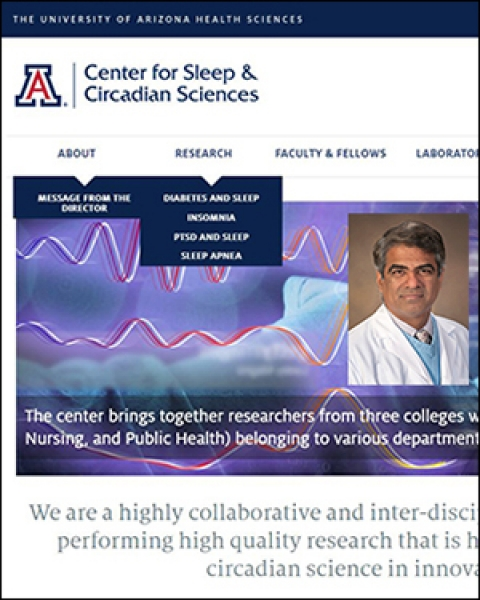 New website for UA Health Sciences Center for Sleep and Circadian Sciences