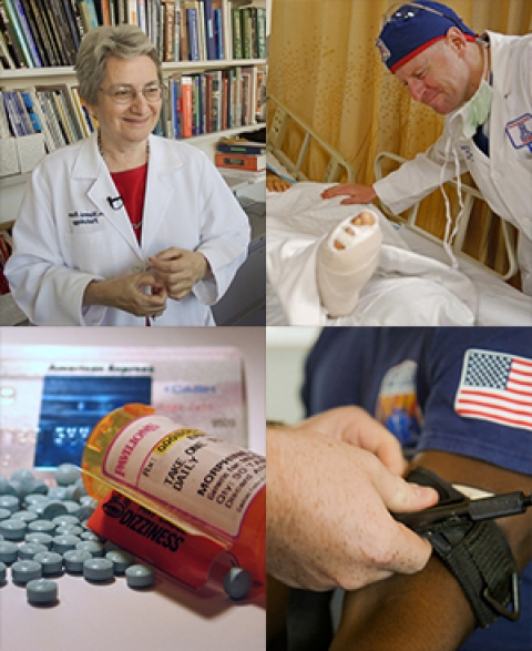 Collage of images from UANews health, science stories