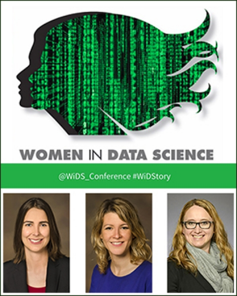 Teaser image for story on Women in Data Science (WiDS) Conference with Drs. Joanne Berghout, Francesca Vitali and Rebecca Vanderpool