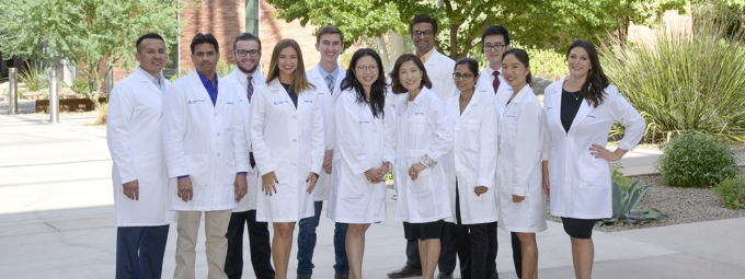 Dr. Louise Hecker's lab team outside the University of Arizona BIO5 Institute
