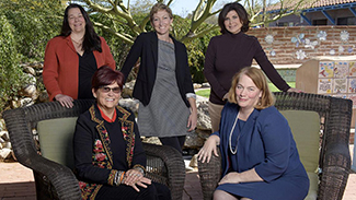 """Dr. Nancy Sweitzer with other mothers being honored as """"Remarkable Moms"""" at Tu Nidito fundraiser May 11."""