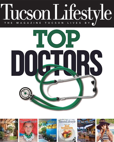 """Teaser image for story on preview of Castle Connolly """"Top Doctors"""" list used by Tucson Lifestyle for June celebration of local physicians - BIG"""
