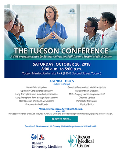 UA Participating in Banner – UMC, TMC One-Day, 8-CME