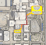 Directions to UAHS Plaza and old BUMCT hospital main entrance