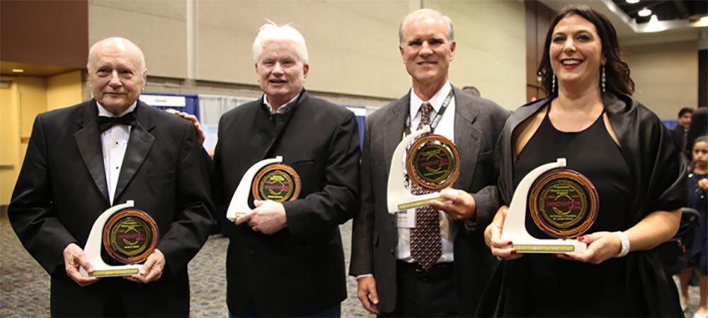 Honorees James C. Wyant, Fletcher McCusker, Doug Stetson and Louise Hecker. Photo credit: Paul Tumarkin/Tech Launch Arizona