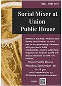 WAM Social Mixer at Union Public House flyer