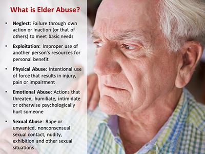 Ohio infographic on types of elder abuse