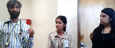 BLAISER students tour a Tohono O'odham hospital in Sells, Ariz.